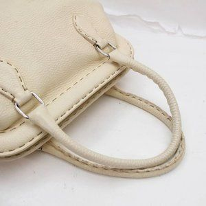 Fendi Bags - Fendi Cream Leather Selleria Bowler 859819